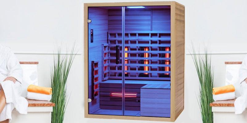infrarotkabine ewp premium duo 150 l form glas m