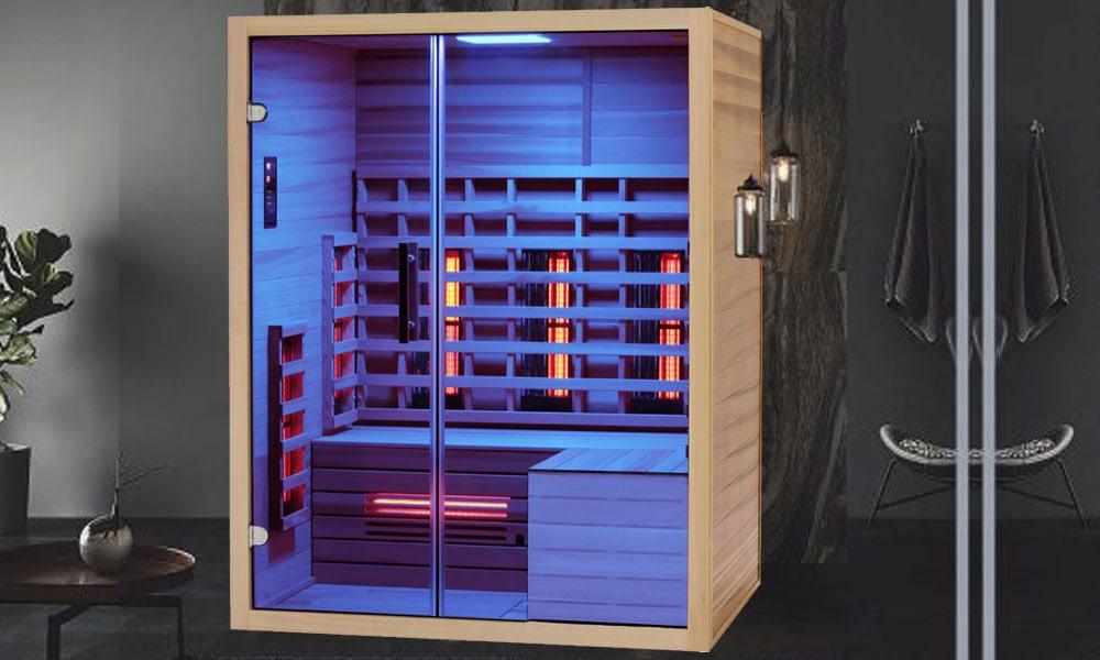 infrarotkabine ewp premium duo 150 l form glas